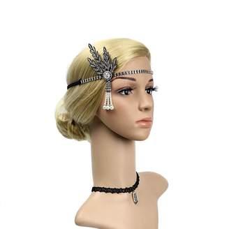 The Great Ubbetter Gatsby Inspired Leaf Headband Hair Tiara Fancy Ball Head Crown