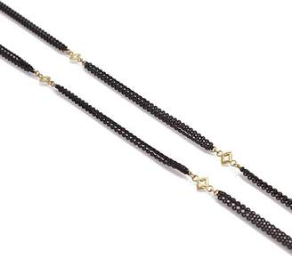 Armenta 18K Yellow Gold and Blackened Sterling Silver Old World Triple Strand Cravelli Cross Station Necklace, 36""