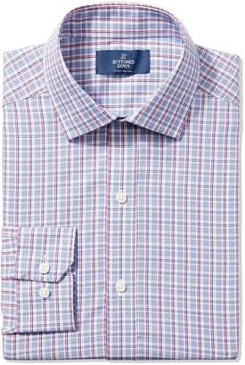 Buttoned Down Men's Fitted Spread-Collar Non-Iron Dress Shirt