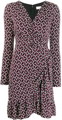 MICHAEL Michael Kors printed long-sleeved dress
