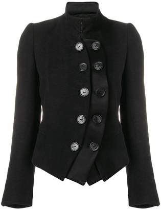 Ann Demeulemeester layered military jacket