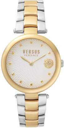 Versace Buffle Bay Two-Tone Stainless Steel Bracelet Watch