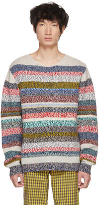 Burberry Multicolor Striped Benham Melange Sweater