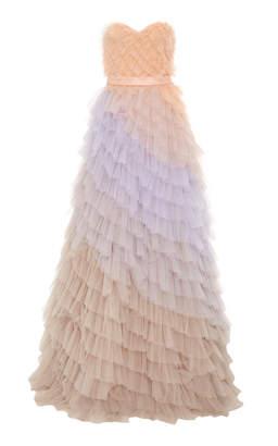 Viktor & Rolf Rainbow Ruffle Gown
