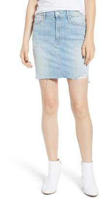 Mother The Sacred Frayed High Waist Miniskirt
