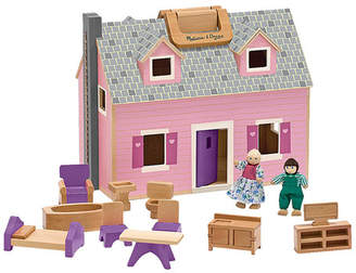 Melissa & Doug 14 Piece Fold and Go Mini Dollhouse