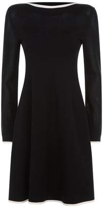 Sportmax Long Sleeve Flare Hem Dress