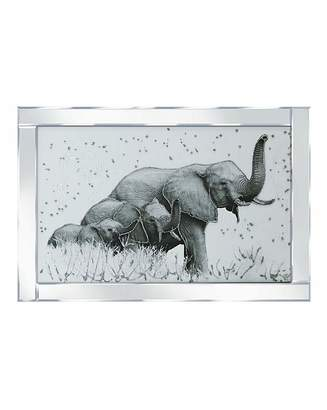 Diesel Elephant Family Mirrored Frame Wall Art