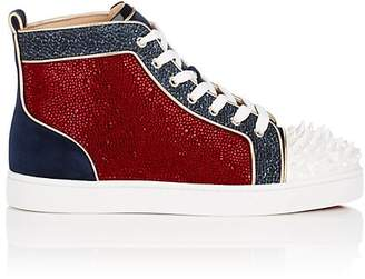 Christian Louboutin Men's No Limit Embellished Sneakers