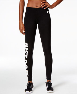 Nike Leg-a-See Just Do It Dri-fit Leggings $45 thestylecure.com