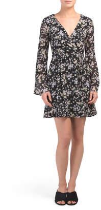 990859d87 Juniors Ditzy Floral Bell Sleeve Dress