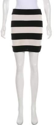 Theory Striped Mini Skirt