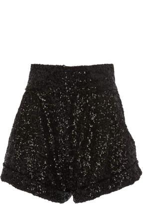 b27cd8ee Isabel Marant Orta High-Waisted Sequin Shorts