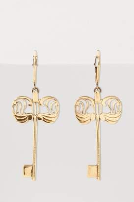 Alexander McQueen Key charm earrings