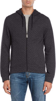 Original Penguin Charcoal Diamond Quilted Hoodie