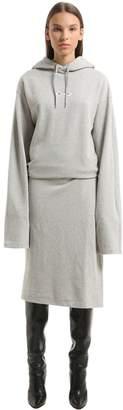 Vetements Eyes Hooded Cotton Sweatshirt Dress
