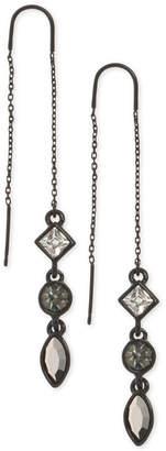 DKNY Triple-Crystal Threader Earrings