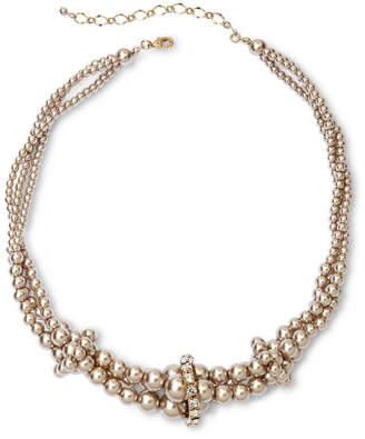 VIESTE ROSA Vieste Silver-Tone Pearlized Glass Bead Twist Necklace