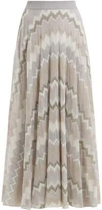 Missoni Metallic zigzag-knit skirt