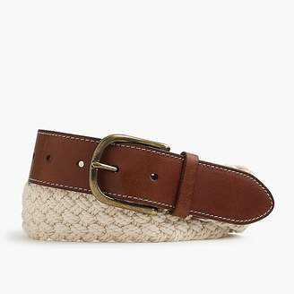 J.Crew Braided cotton belt in sand