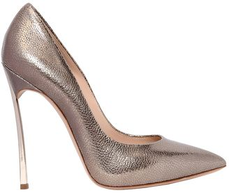 120mm Blade Metallic Leather Pumps $690 thestylecure.com
