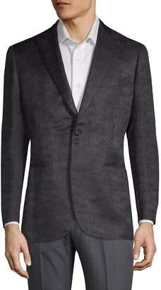 Brioni Men's Wool & Silk Logo Suit Jacket