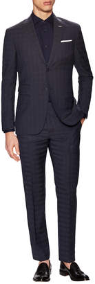 Michael Bastian Gray Label Wool Checkered Notch Lapel Suit