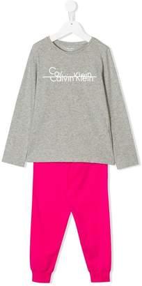 Calvin Klein Kids branded pyjamas