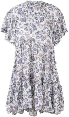 Isabel Marant paisley tiered mini dress