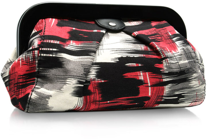 Ted Baker Printed Canvas Clutch