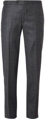 Thom Sweeney Blue Slim-Fit Puppytooth Wool and Cashmere-Blend Suit Trousers $525 thestylecure.com