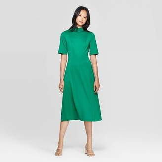 Who What Wear Women's Short Sleeve Cowl Neck Back Tie A Line Midi Dress - Who What WearTM