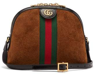 Gucci Ophidia Gg Suede Cross Body Bag - Womens - Tan Multi