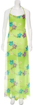 Balmain Floral Halter Maxi Dress