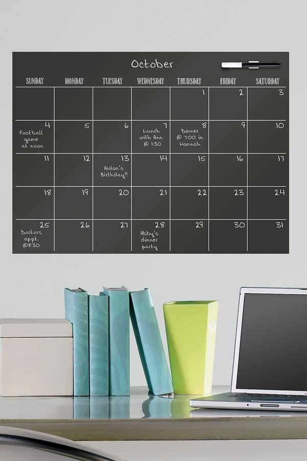 Brewster Home Fashions Dry Erase Black Calendar
