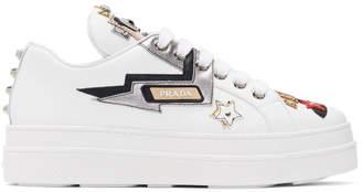 Prada White Robot Platform Sneakers