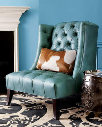 Old Hickory Tannery Tufted Chair & Pillow