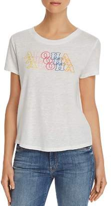 Honey Punch Aloha Embroidered Tee