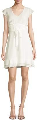 Design Lab Flutter-Sleeve A-Line Dress