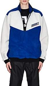 Givenchy Men's Colorblocked Fleece Sweater - Blue