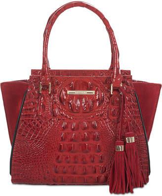 Brahmin Mini Priscilla Lausanne Embossed Leather Satchel