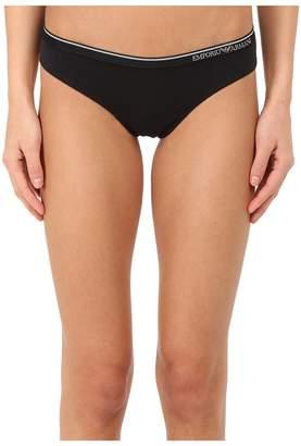 Emporio Armani Essential Stretch Cotton Brasilian Brief Women's Underwear