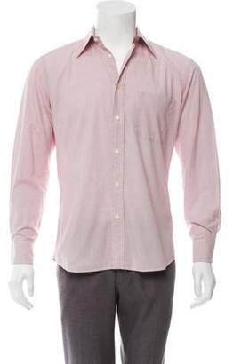 Valentino Checkered Button-Up Shirt
