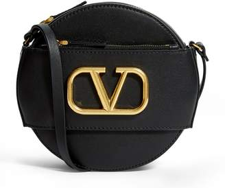 Valentino Leather Circle Cross Body Bag