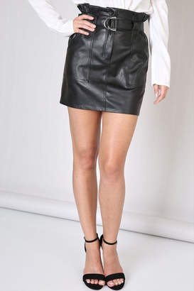 Do & Be Belted Leather Skirt