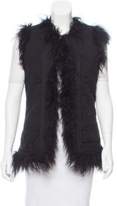 Zadig & Voltaire Mongolia Fur-Trimmed Vest