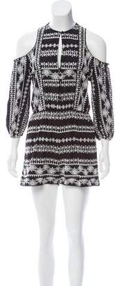 Rachel Zoe Embroidered Long Sleeve Romper w/ Tags