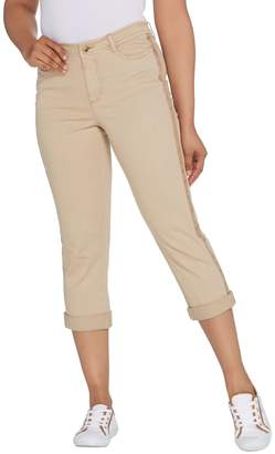 Isaac Mizrahi Live! Regular Chino Girlfriend Crop Pants