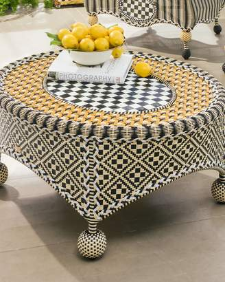 Mackenzie Childs Courtyard Outdoor Coffee Table
