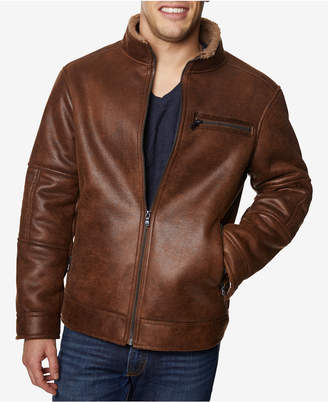 Buffalo David Bitton Men Big & Tall Faux-Leather Jacket
